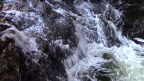 Strong current cascading with sound stock footage