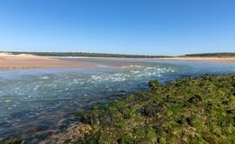 Strong current on estuary royalty free stock photos