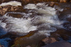 Strong current of the river in the forest. Ukraine Royalty Free Stock Photography