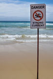 Strong Current Warning Sign stock images
