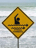 Strong Currents Sign Royalty Free Stock Photography