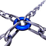 Strong. 3D illustration of a teamwork concept Royalty Free Stock Photos