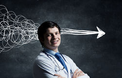 Strong decision making ability Royalty Free Stock Image