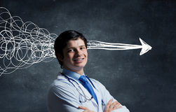 Strong decision making ability Royalty Free Stock Images