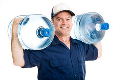 Strong Delivery Man Stock Photo