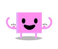 Strong. Digital drawing of a strong pink square Royalty Free Stock Photo