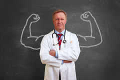 Strong doctor concept Stock Photo