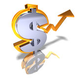 Strong dollar Royalty Free Stock Images
