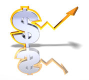 Strong dollar Stock Photo