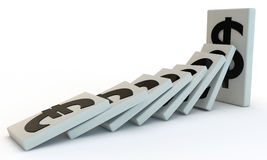 Strong Dollar domino Royalty Free Stock Photo