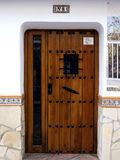 Strong Door in Nerja, a Spanish Holiday resort on the Costa Del Sol  near Malaga, Andalucia, Spain, Europe Stock Images