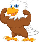 Strong eagle cartoon. Illustration of Strong eagle cartoon Royalty Free Stock Photos