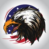 Eagle Character of America vector illustration