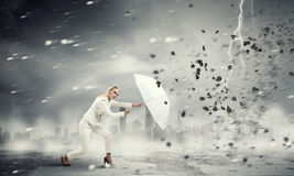 Strong enough to challenge it . Mixed media Royalty Free Stock Photos