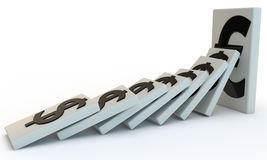 Strong Euro domino Royalty Free Stock Images