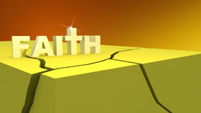 Strong Faith Amidts Hard Times Illustration Stock Images