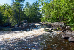 Strong Falls, Marinette County, Wisconsin, USA Stock Photo
