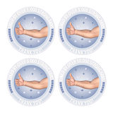 Strong Fans Thumbs Up Like Milestone Badge Illustration Royalty Free Stock Image