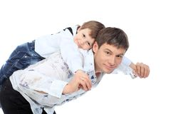 Strong father Royalty Free Stock Images