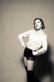 With Strong Features modelo femenino Fotografía de archivo libre de regalías