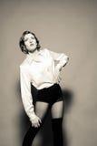 With Strong Features modelo femenino Fotografía de archivo