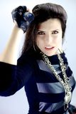 Strong female rock singer portrait Stock Photos