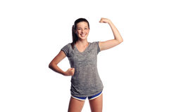 Strong female teenager Royalty Free Stock Image