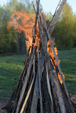 Strong fire flames Royalty Free Stock Photo