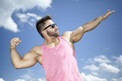 Strong fit man posing Stock Image