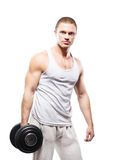 Strong, fit and sporty bodybuilder man Stock Image