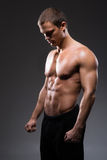 Strong, fit and sporty bodybuilder man Royalty Free Stock Images