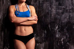 Strong fitness woman Stock Images