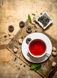 Strong flavored tea with cane sugar. Stock Images