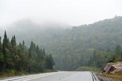 Strong fog. Royalty Free Stock Photos