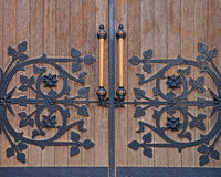 Strong forged door. Royalty Free Stock Photography