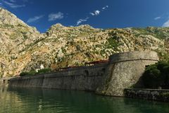 Kotor fortification Stock Image