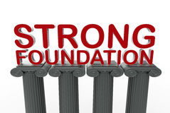 Strong foundation concept Royalty Free Stock Photography