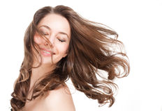 Strong full hair. Royalty Free Stock Photography