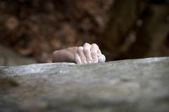 Strong gip - Rock climbing series Stock Photography