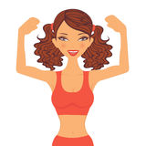 Strong girl. An illustration of a strong sportive girl Stock Images
