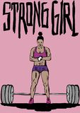Strong girl. Image of a strong girl Stock Photography