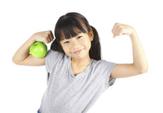 Strong girl Royalty Free Stock Photo