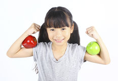 Strong girl Stock Photos