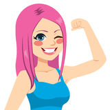 Strong Girl Power Stock Images