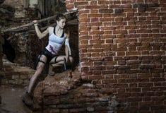 Strong girl Royalty Free Stock Photos