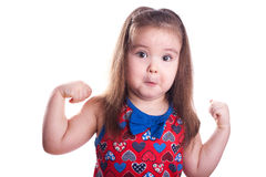 Strong girl Stock Image