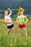 Strong girls Stock Image