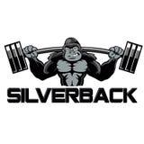 Strong gorilla cartoon Royalty Free Stock Images