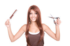 Strong hair Stock Images