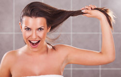Strong hair Stock Photos
